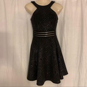 City Studio   Juniors' Glitter Fit & Flare Dress